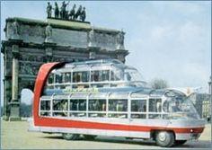 Most Extravagant Bus Ever Built     Citroen U55 Cityrama: Parisian spaceship tour bus