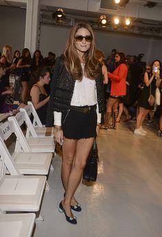 Shorts richtig stylen wie Olivia Palermo