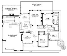 First Floor Plan of Bungalow   Luxury   House Plan 97329