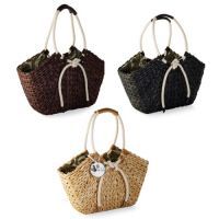 corn husks basket totes by Mud Pie