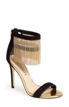 Free shipping and returns on Via Spiga 'Tolsa' Suede & Fringe Sandal (Women)  at Nordstrom.com. Like embellished flapper dresses of yore, golden chains  drape ...