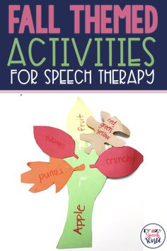 Fall Themed Activities for Speech Therapy