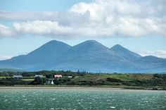 The Paps of Jura from Bowmore, Isle of Islay. Campbell Monument