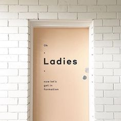 design and typography on ladies bathroom in brisbane Font Design, Signage Design, Cafe Design, Graphic Design, Interior Design, Brochure Design, Typography Design, Environmental Graphics, Environmental Design