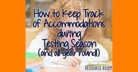 Testing season is here! And along with the pressures of the test, and managing the testing schedules, and trying to fit in your instructio. Teacher Organization, Organized Teacher, Iep Meetings, Keep Track, Primary Resources, All Year Round, Resource Room, Special Education Teacher, Back To School