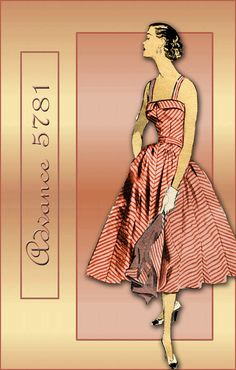 1950s Sewing Pattern Advance 5781 Summer Sundress with Bolero Jacket