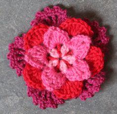 Crocheted Five Point flower tutorial
