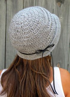 FLAPPER Cloche Hat in Heather Gray Handmade by SWAKCouture