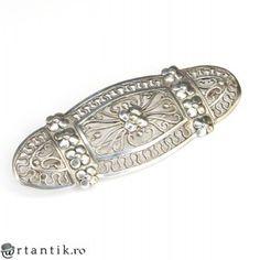 """eleganta brosa Art Deco """" Milgrain """", din argint. atelier german, cca 1930"""