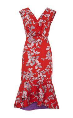 Pomegranate Embellished Dress by JOHANNA ORTIZ Now Available on Moda Operandi
