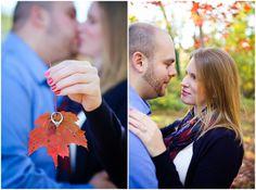 Fall engagement photos!  Danielle Kirk Photography