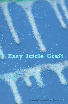 This easy icicle craft is perfect for teaching toddlers about winter. Just grab some glitter and glue to make this winter art piece.