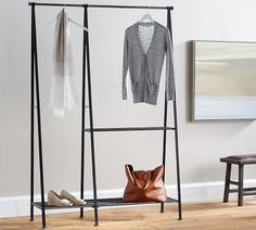 Antique Gray Modular Clothes Rack #affiliatelink