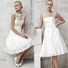 love the neckline on the dress on the right, but not the a-line skirt