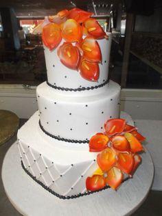Bakery Cakes Alessi Wedding October Orange Cali Lily