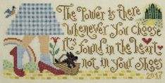Pre-order 2018 Nashville Market SILVER CREEK SAMPLERS Dorothy's Discovery counted cross stitch patterns at thecottageneedle.com Wizard of Oz by thecottageneedle