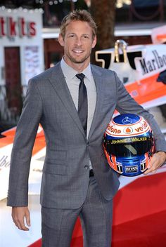 Formula 1 Drivers are hotter than you think Jenson Button Morably Best Dressed Man, Well Dressed, Sports Celebrities, Dapper Gentleman, Gq Magazine, Sports Stars, Wedding Suits, Mens Suits, Men Dress