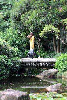 Cute fall dress in the Brisbane Botanic Gardens  Australia