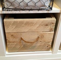 Great use of pallets for the garage using pallets. add handles as this crafter did and I would add wheels also From Dirty Pallets to Functional Crates