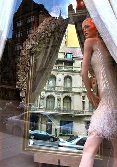 Window display, Madison Avenue, NYC,