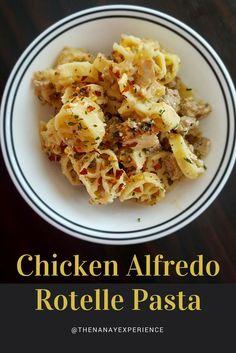 Chicken Alfredo Rotelle Pasta