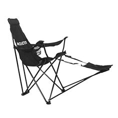 Introducing Ancheer Portable Folding Tripod Recliner Escape Chair with Armrests Detachable Footrest and Cup holder for Outdoor Camping Fishing Hiking Black. Great Product and follow us to get more updates!