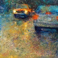iris scott finger painting | 14-Volkswagen-Blue-Iris-Scott-Finger-Painting-Fine-Art-www-designstack ...
