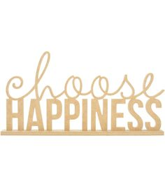 Kaisercraft Beyond The Page MDF Phrase-Choose Happiness