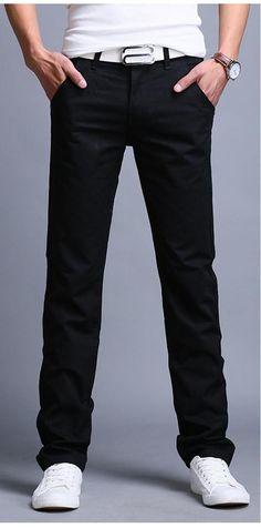 aa90e103c9 9 colors summer autumn fashion business or casual style pants men slim  straight casual long pants fashion multicolor men pants