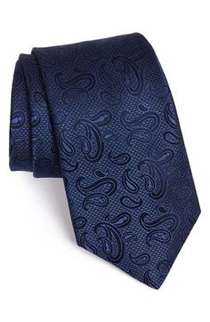 Michael Kors Paisley Silk Tie (X-Long) available at Formal Tie, Men Formal, Sharp Dressed Man, Well Dressed Men, Paisley Tie, Cool Ties, Tie Styles, Groom Outfit, Gentleman Style