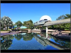 The Seas, Spaceship Earth and resort monorail