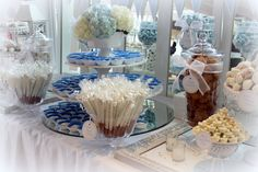 The Perfect Table Cape Cod - Blue & White -Love By The Sea Candy & Dessert Buffet Table