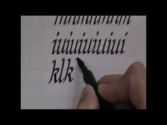 calligraphy - how to write calligraphy letters - lesson 1 for beginners - YouTube