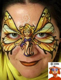 King or Queen of the Hill - photo contest face paint fairy. Awesome!