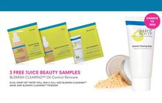 Just fill out the form to Get your Free Juice Beauty blemish clearing oil control skincare samples. Plus, Every 50th