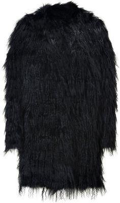ShopStyle: Utzon Black Fur Coat