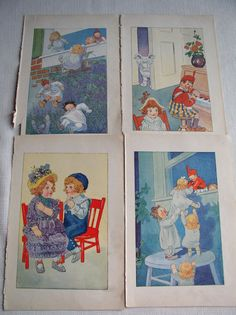 Vintage Raggedy Ann Book Illustrations Johnny by vintage541