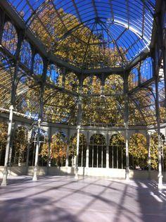 Dentro del Palacio de Cristal, Parque del Retiro, Madrid