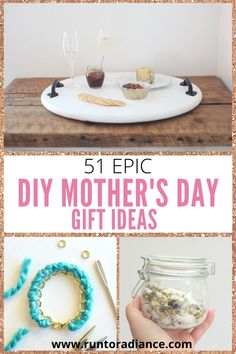 These DIY gift ideas are the best Mother's Day gifts and are just what you need to show mom you care! Choose one of these (we won't tell)! Easy Diy Mother's Day Gifts, Homemade Mothers Day Gifts, Best Mothers Day Gifts, Mother's Day Diy, Homemade Gifts, Best Gifts, Diy Mother's Day Vases, Diy Lace Earrings, Diy Projects Cans