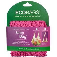 ECOBAGS Market Collection String Bags Long Handle Fuchsia (1 Bag)