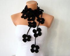 flower scarf necklace