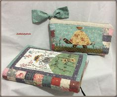Sabelapatch: Fundas y neceser Anni Downs, Fabric Book Covers, Diary Covers, Fabric Journals, Notebook Covers, Applique Patterns, Mini Quilts, Love Sewing, Cute Cards