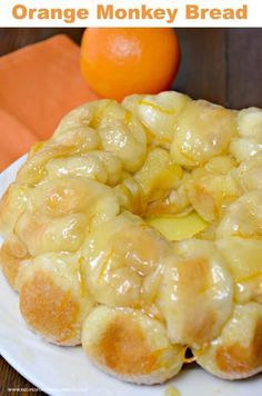 This Orange Monkey Bread is made with butter, sugar, biscuits, orange zest and fresh orange juice. You bite into a sweet and delicious citrus flavor with a surprise cream cheese center. My name is Diane from Recipes for our Daily Bread. I am excited about Brunch Recipes, Bread Recipes, Dessert Recipes, Cooking Recipes, Juice Recipes, Cooking Food, Yummy Recipes, Cooking Tips, Recipies