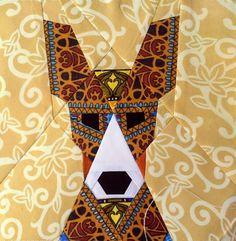 Dog quilt block pattern, Basenji, Animal quilt, Modern home decor, Instant download, Paper Piecing, Beginner Quilt Pattern & Tutorial