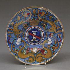 Plate | Italian, Castel Durante with Gubbio luster | The Met