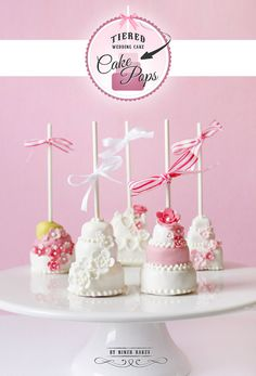 Tutorial: How to make Tiered Wedding Cake – Cake Pops by niner bakes (incl. step by step photos!)