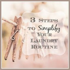 Do you feel like the mountain of laundry is never done? Me too. Here are 3 things I've started doing in order to simplify my routine and spend less time doing laundry! Putting these 3 systems in place will simplify your life as well!