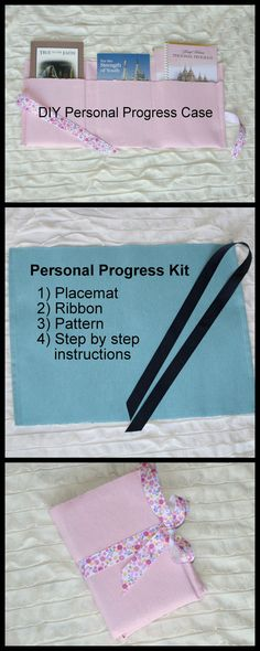 DIY - Young Womens Personal Progress Case. Great mutual idea!  Also fulfills knowledge #2 value experience.    5.00, via Etsy.
