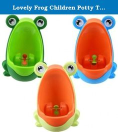 Lovely Frog Children Potty Toilet Training Kids Urinal for Boys Pee Trainer Bathroom. Description : Lovely Frog Children Potty Toilet Training Kids Urinal for Boys Pee Trainer Bathroom Environmentally friendly material, nontoxic and no peculiar smell. Urine groove separation design and light surface makes the item easy to clean. Lovely frog shape and rotating windmill improves your babies' interest and trains they pee by themselves. Strong sucker can adjust the height of the item…