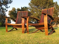 Furniture, Wood, Public space, Chair, Tree, Outdoor furniture, Grass, Hardwood, Bench, Plant, Wine Barrel Coffee Table, Wine Barrel Chairs, Whiskey Barrel Furniture, Wine Barrels, Barrel Projects, Outdoor Projects, Wood Projects, Used Outdoor Furniture, Dream Furniture